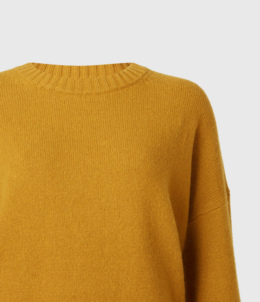 Womens Arun Cashmere Blend Sweater (gold) - Image 5