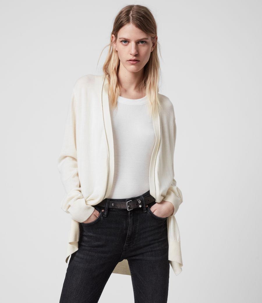 Women's Jamie Merino Wool Cardigan (chalk_white_linen) - Image 1
