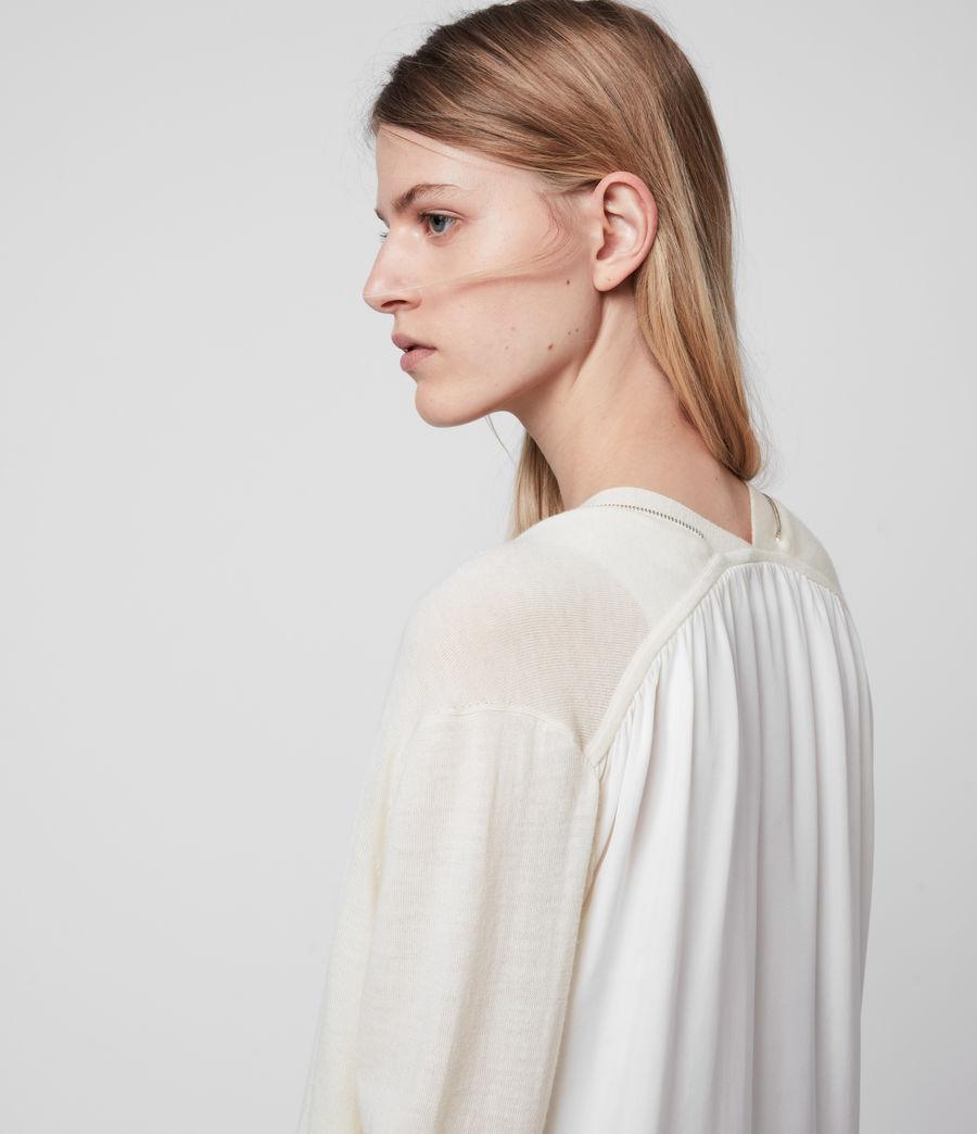 Women's Jamie Merino Wool Cardigan (chalk_white_linen) - Image 2