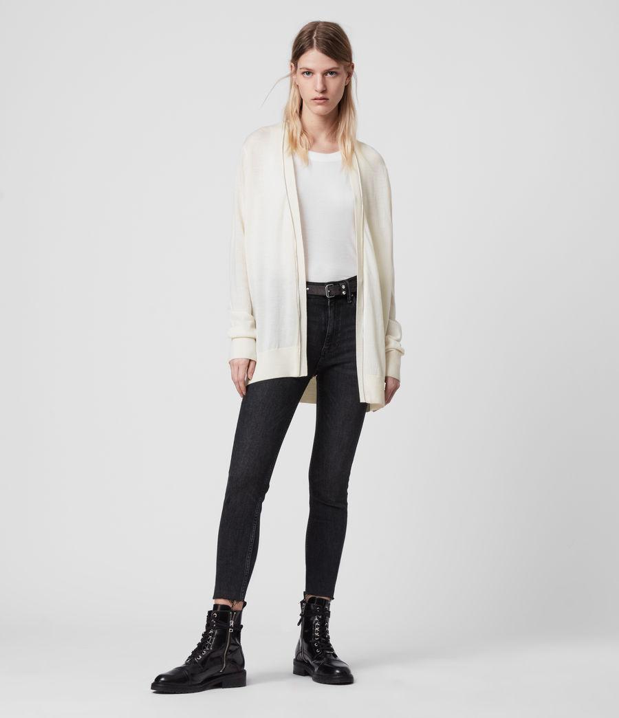 Women's Jamie Merino Wool Cardigan (chalk_white_linen) - Image 3