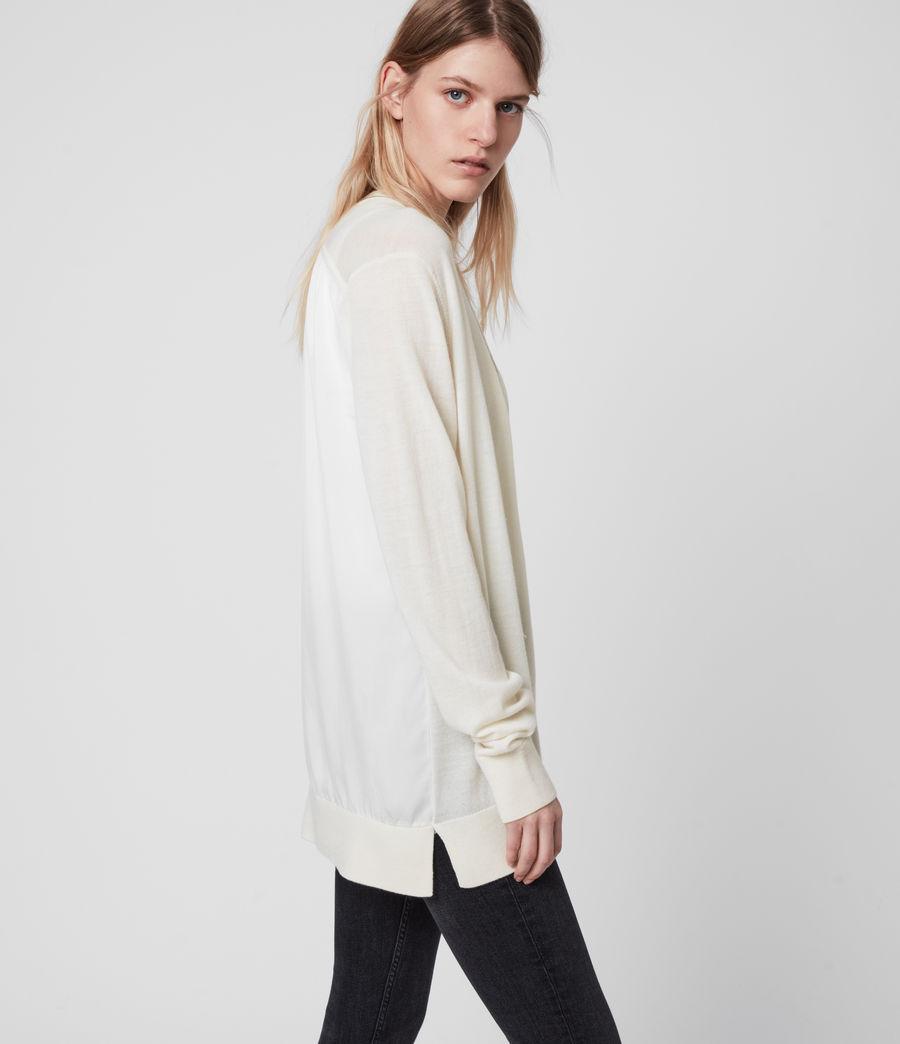 Women's Jamie Merino Wool Cardigan (chalk_white_linen) - Image 4