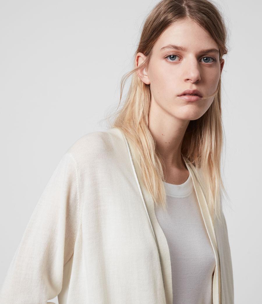 Women's Jamie Merino Wool Cardigan (chalk_white_linen) - Image 5