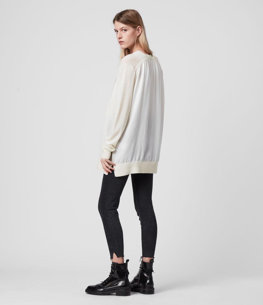 Women's Jamie Merino Wool Cardigan (chalk_white_linen) - Image 6