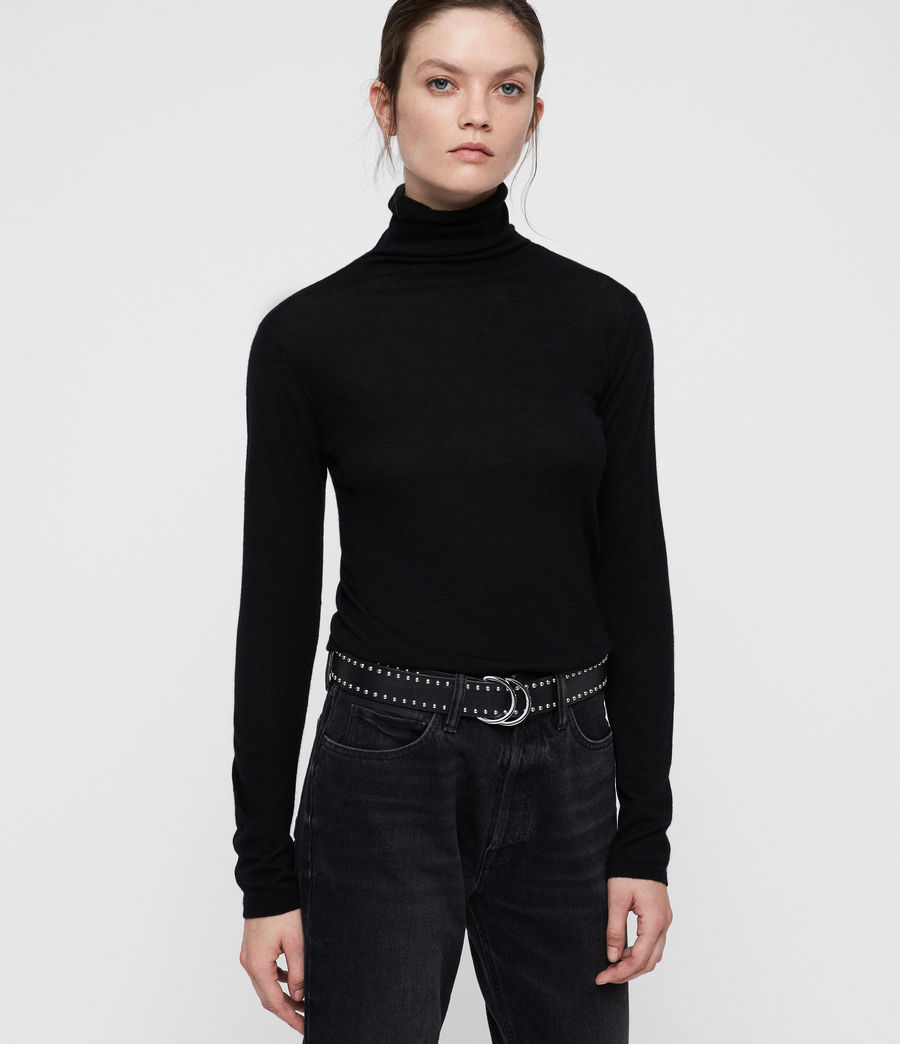 Womens Opal Sweater (black) - Image 1