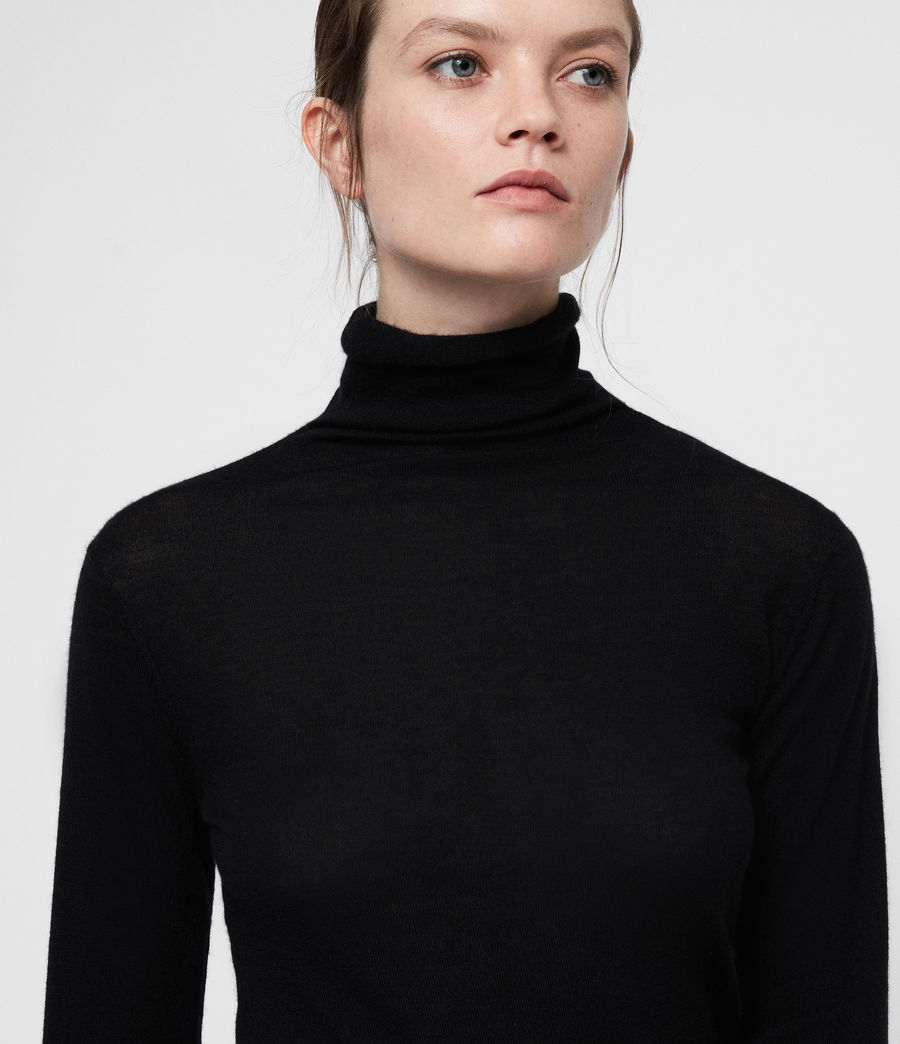 Womens Opal Sweater (black) - Image 2