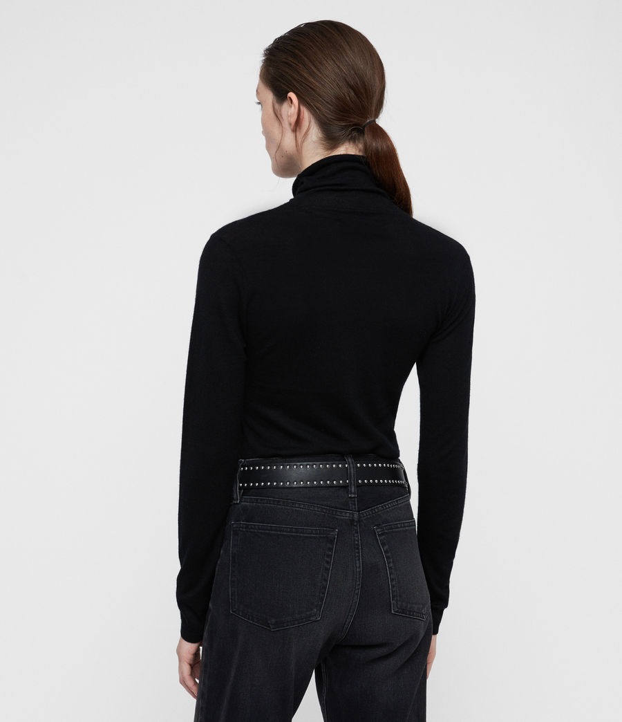 Womens Opal Sweater (black) - Image 4
