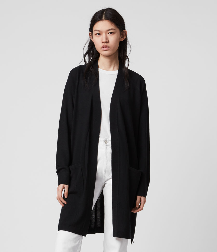 Damen Cross Cardigan (black) - Image 4