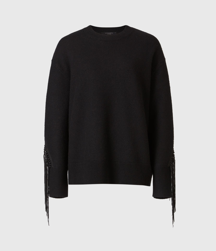 Women's Robyn Merino Wool Jumper (black) - Image 2