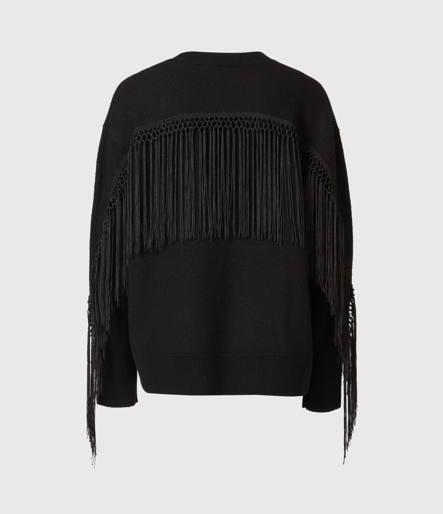 Women's Robyn Merino Wool Jumper (black) - Image 3