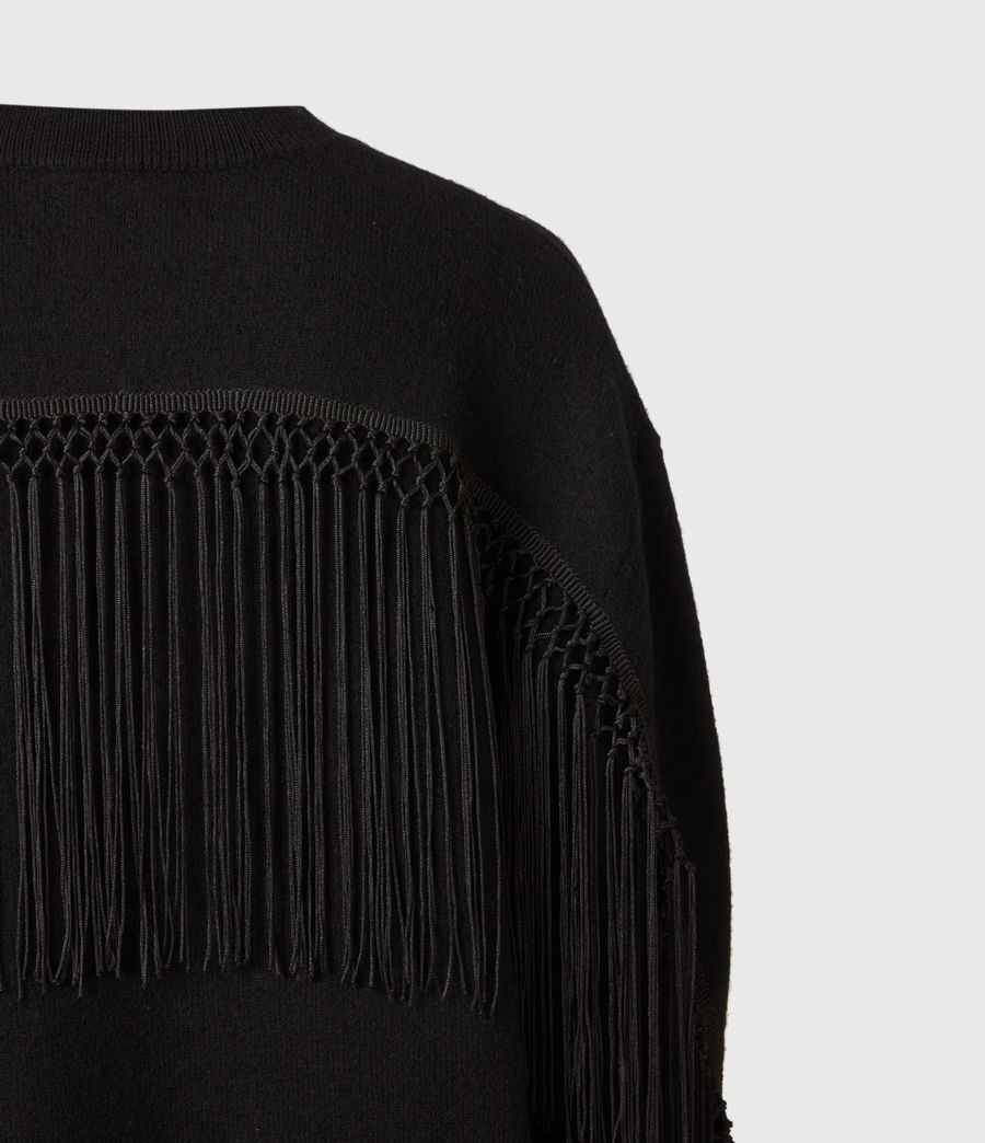 Women's Robyn Merino Wool Jumper (black) - Image 5