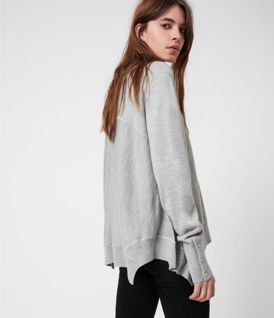Womens Callie Raglan Sweater (pale_grey_marl) - Image 1