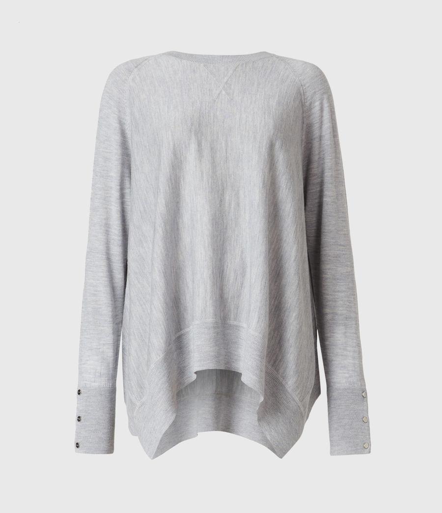 Womens Callie Raglan Sweater (pale_grey_marl) - Image 2