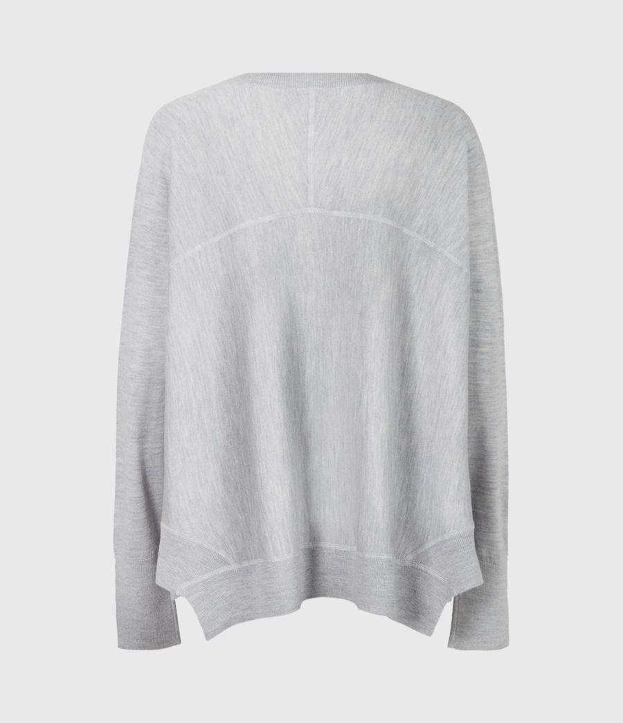 Womens Callie Raglan Sweater (pale_grey_marl) - Image 3