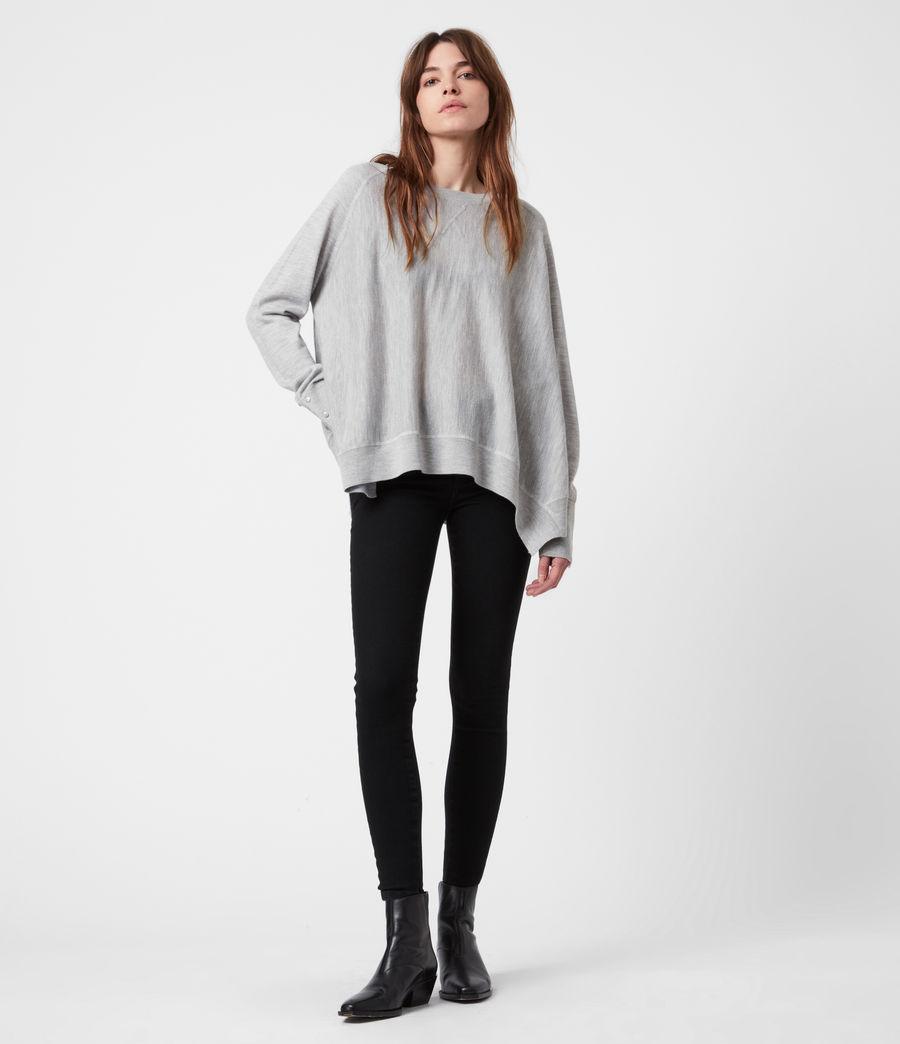 Womens Callie Raglan Sweater (pale_grey_marl) - Image 4