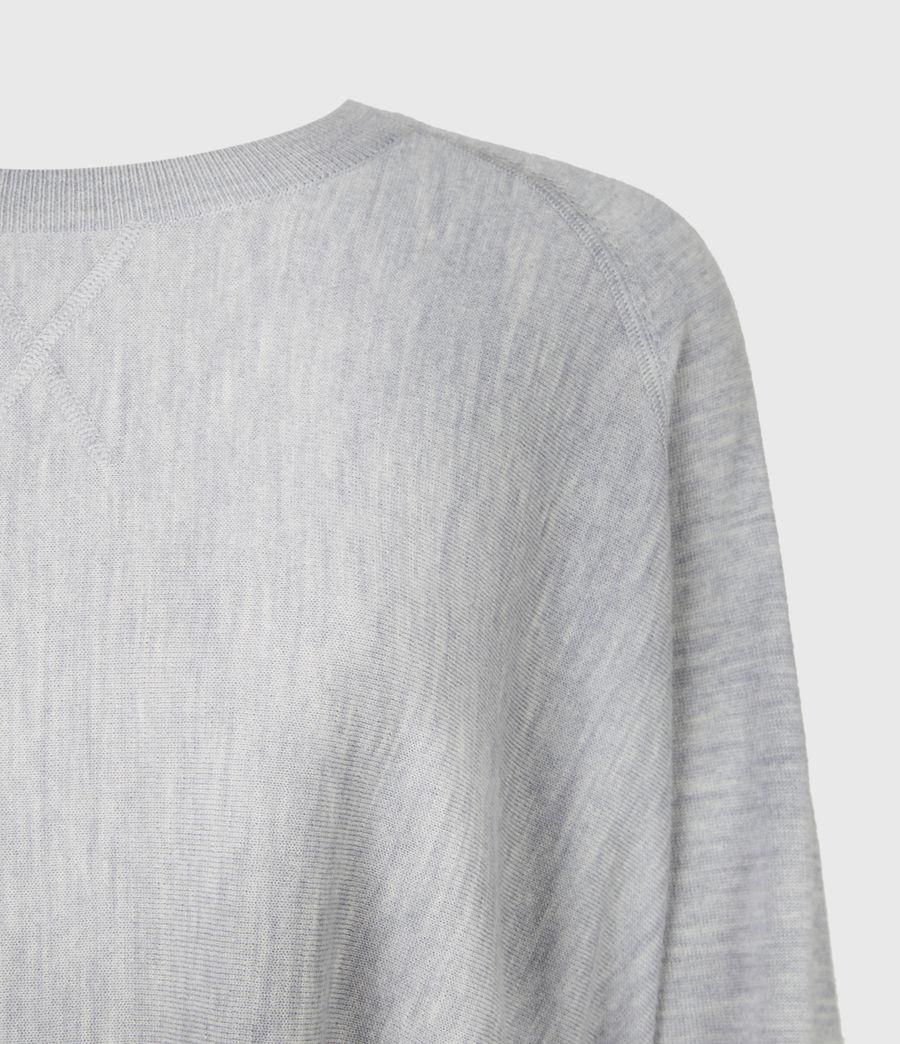 Womens Callie Raglan Sweater (pale_grey_marl) - Image 5