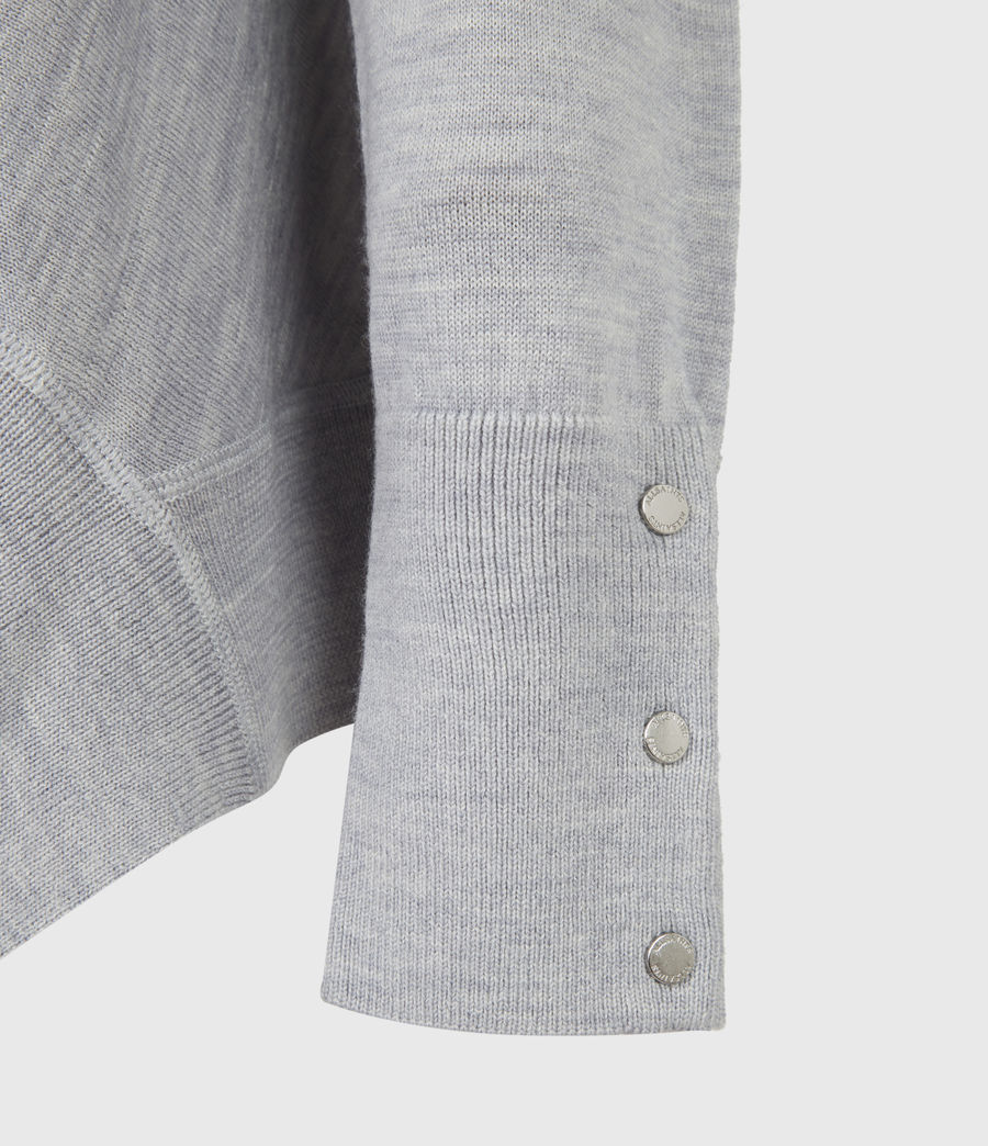 Womens Callie Raglan Sweater (pale_grey_marl) - Image 6
