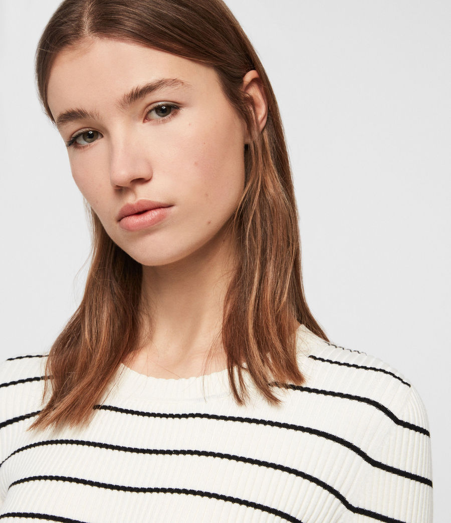 Womens Amara Striped Sweater (chalk_white_black) - Image 3