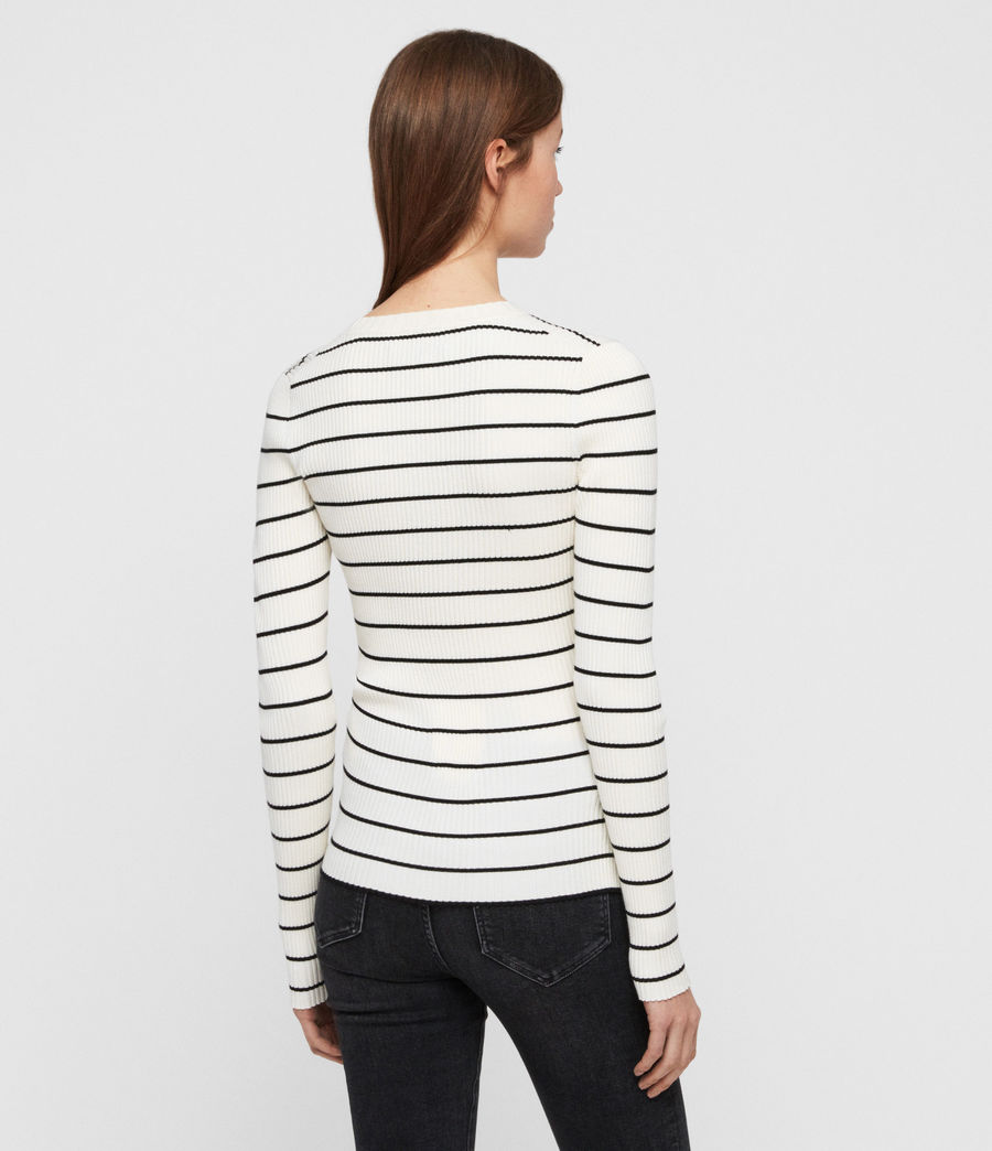 Womens Amara Striped Sweater (chalk_white_black) - Image 5