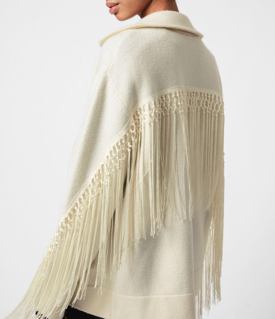 Women's Robyn Merino Wool Biker Jacket (chalk_white) - Image 1