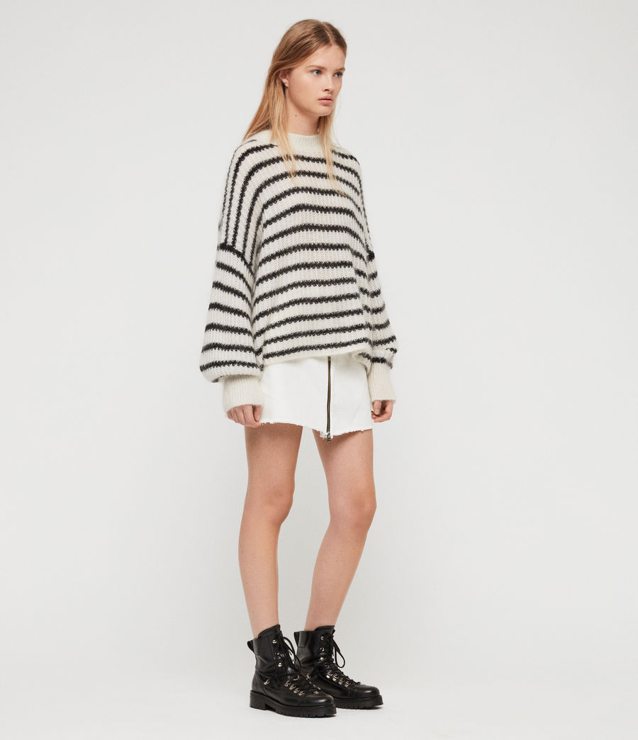 Womens Renne Stripe Sweater (chalk_white_black) - Image 1