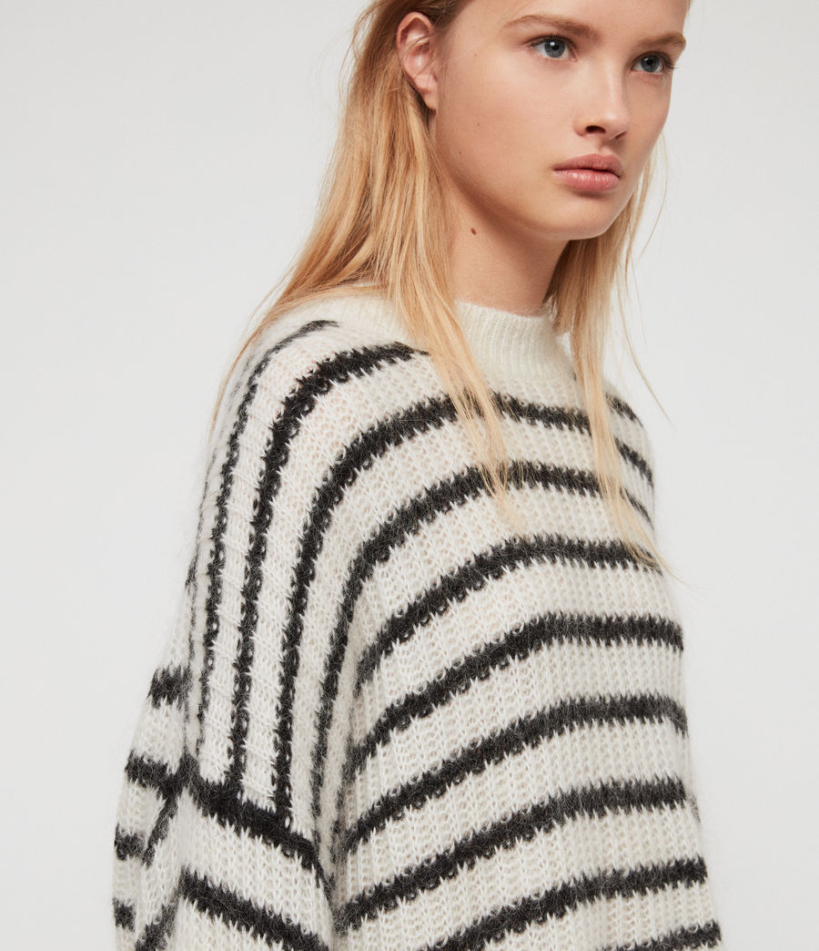 Womens Renne Stripe Sweater (chalk_white_black) - Image 3