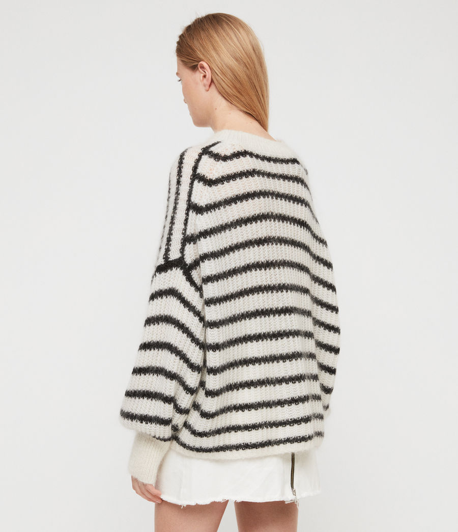 Womens Renne Stripe Sweater (chalk_white_black) - Image 5