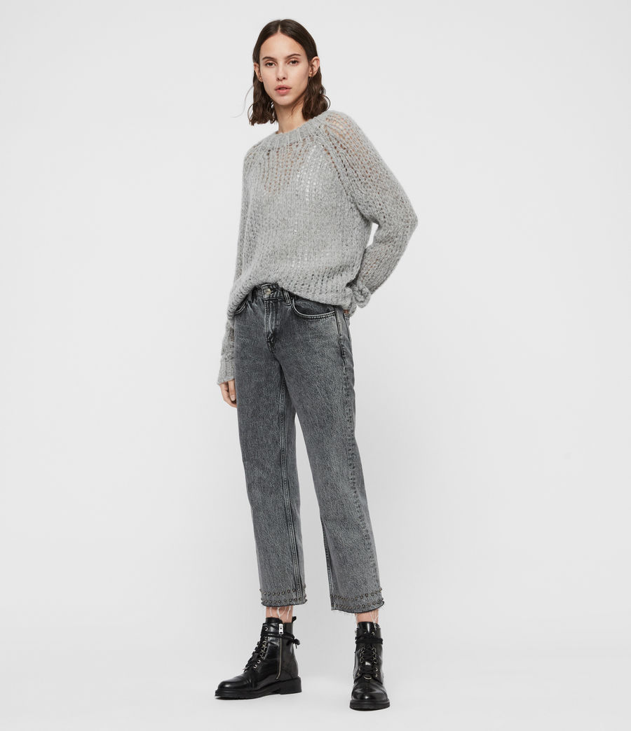 Womens Casey Sweater (mid_grey_marl) - Image 1