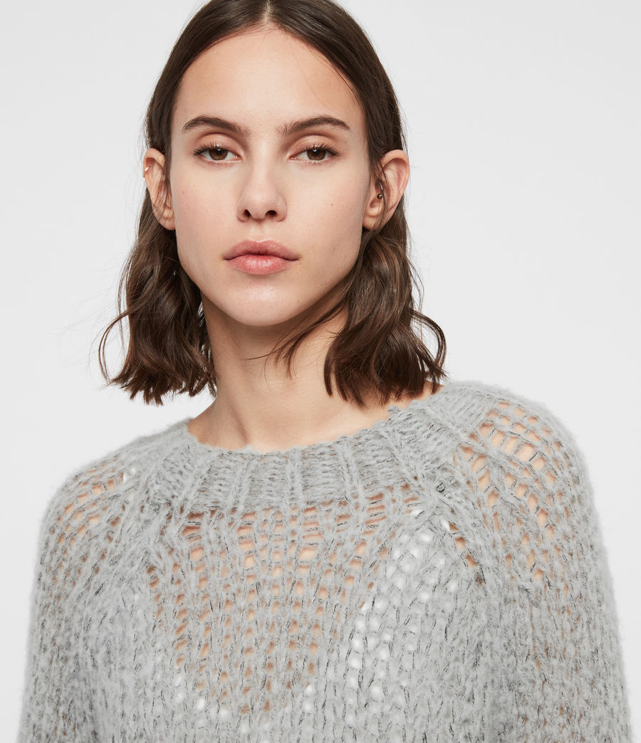 Womens Casey Sweater (mid_grey_marl) - Image 2