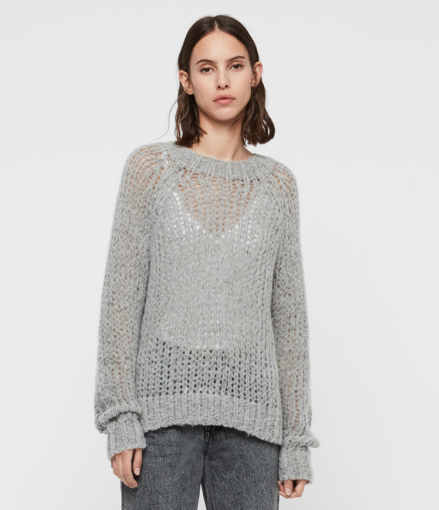 Womens Casey Sweater (mid_grey_marl) - Image 3