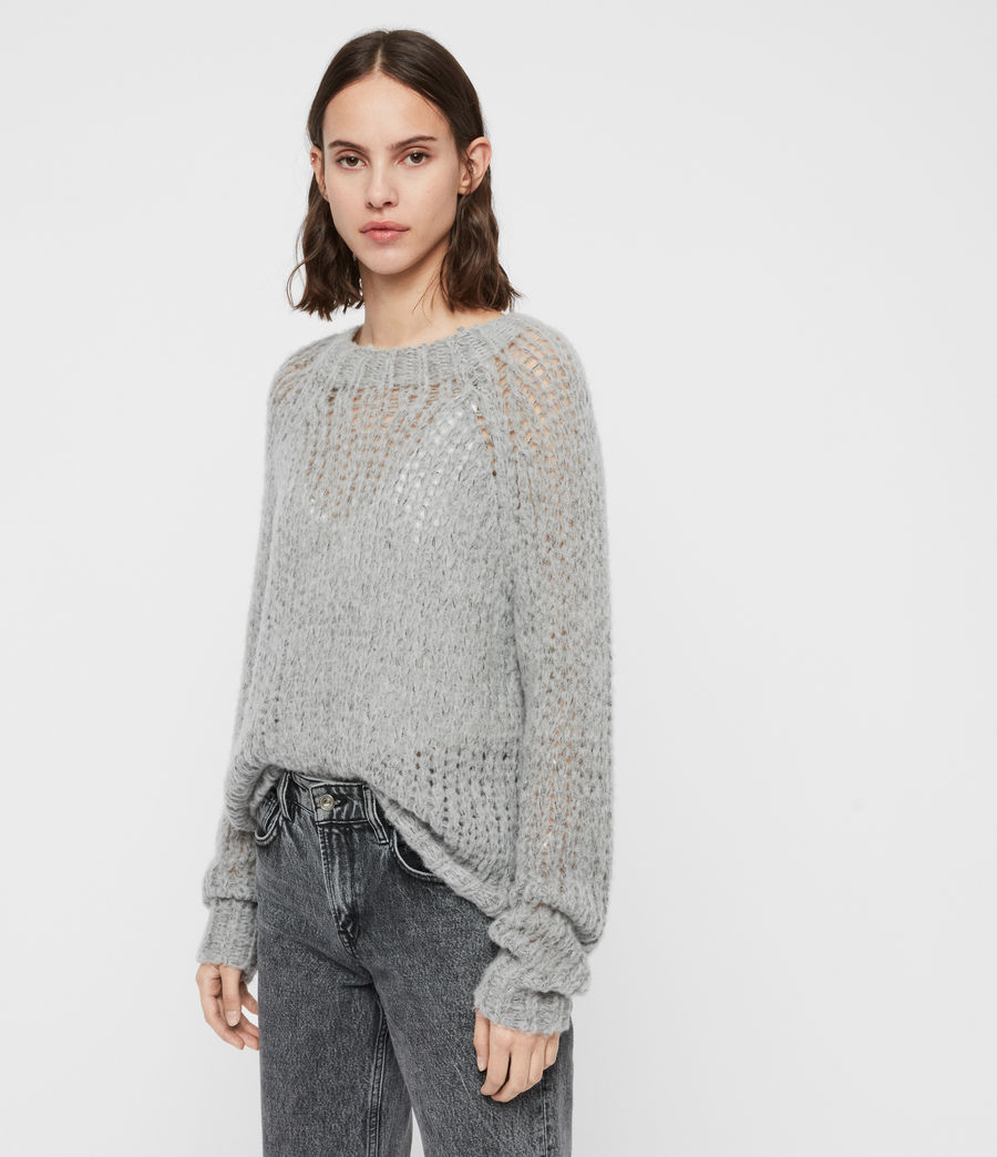 Womens Casey Sweater (mid_grey_marl) - Image 4