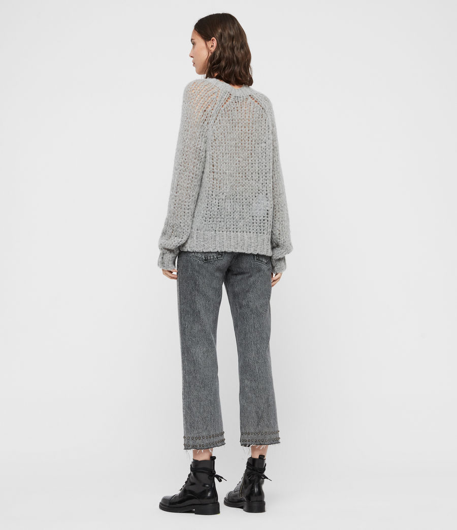 Womens Casey Sweater (mid_grey_marl) - Image 5