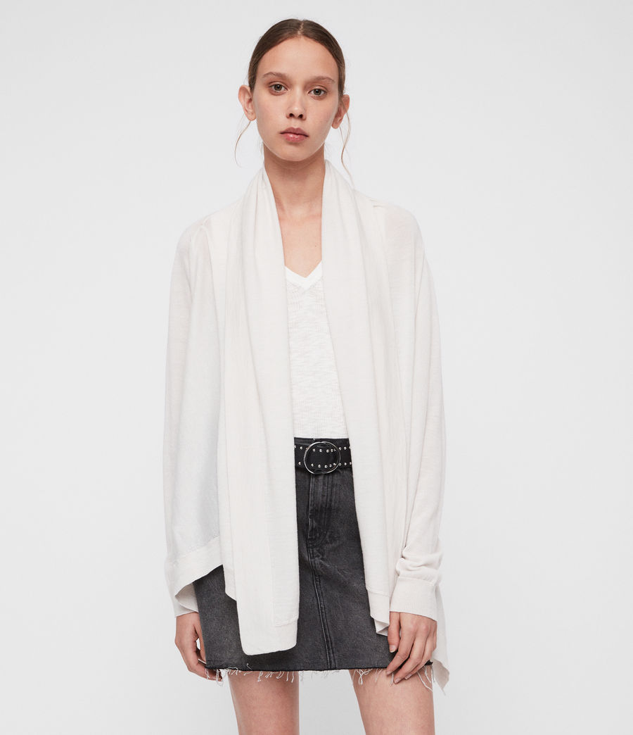 Women's Ires Woven Cardigan (chalk_white) - Image 1