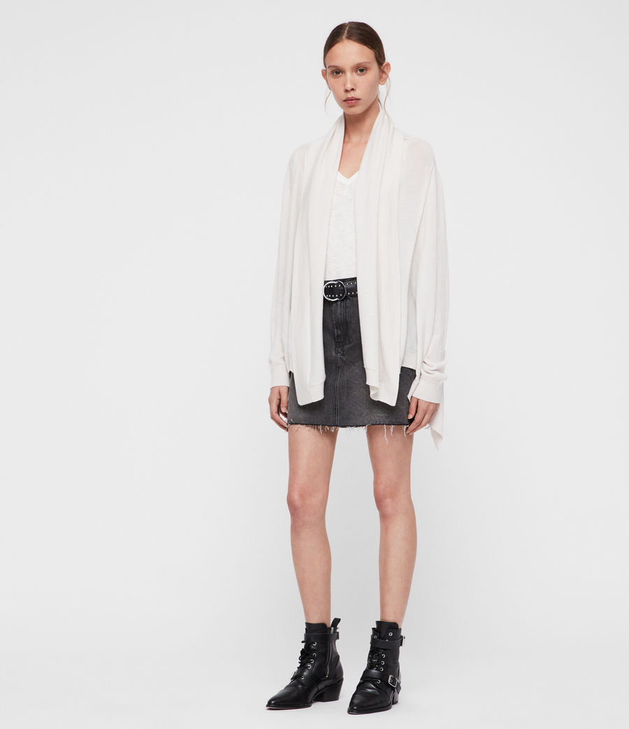 Women's Ires Woven Cardigan (chalk_white) - Image 2