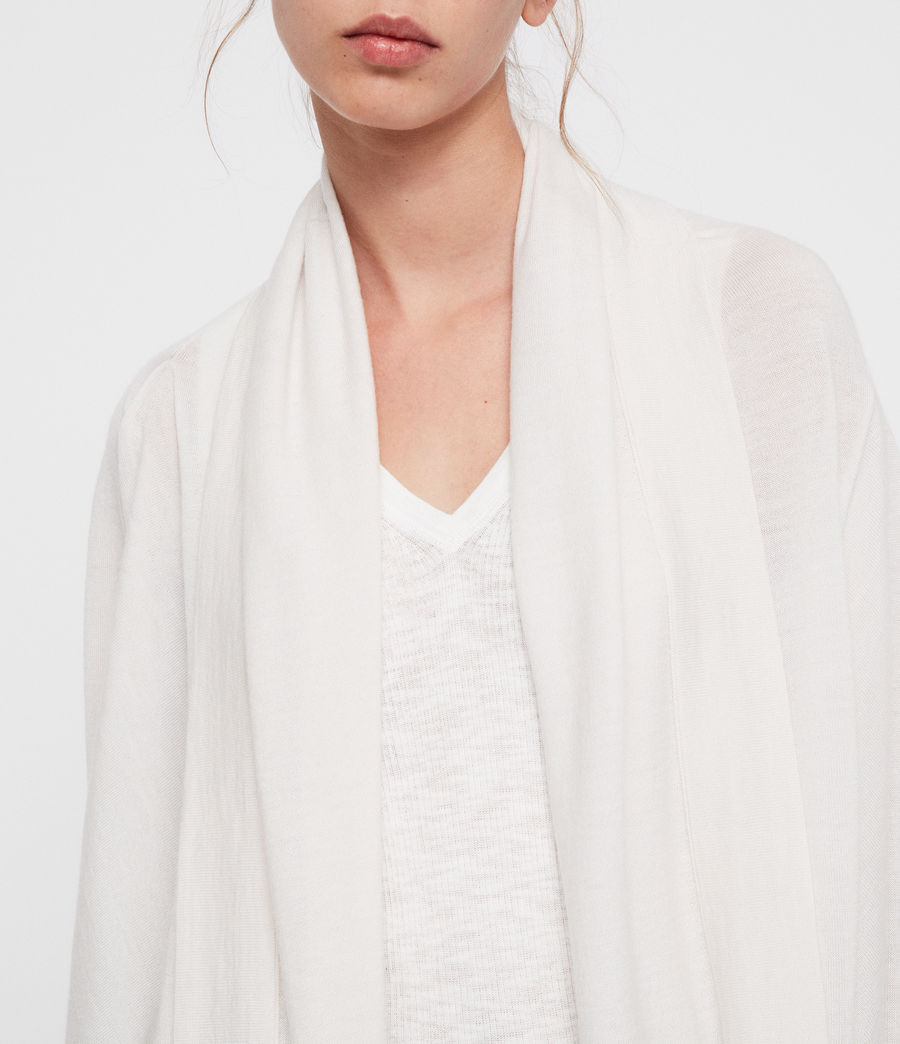 Women's Ires Woven Cardigan (chalk_white) - Image 3