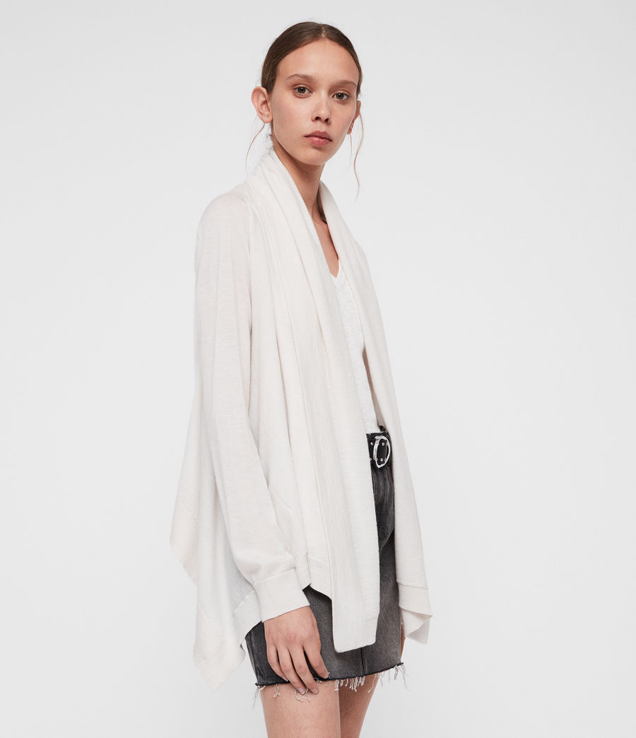 Women's Ires Woven Cardigan (chalk_white) - Image 4