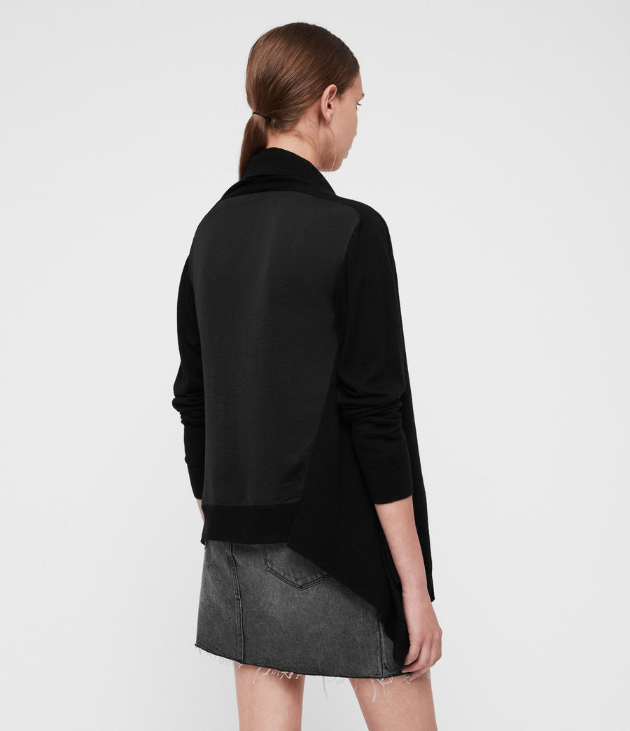 Womens Ires Woven Cardigan (black) - Image 2