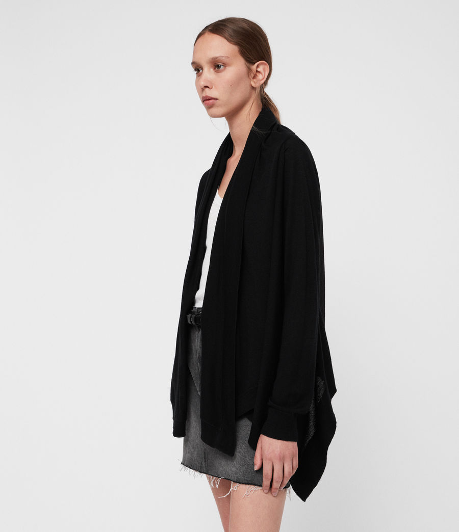 Womens Ires Woven Cardigan (black) - Image 3