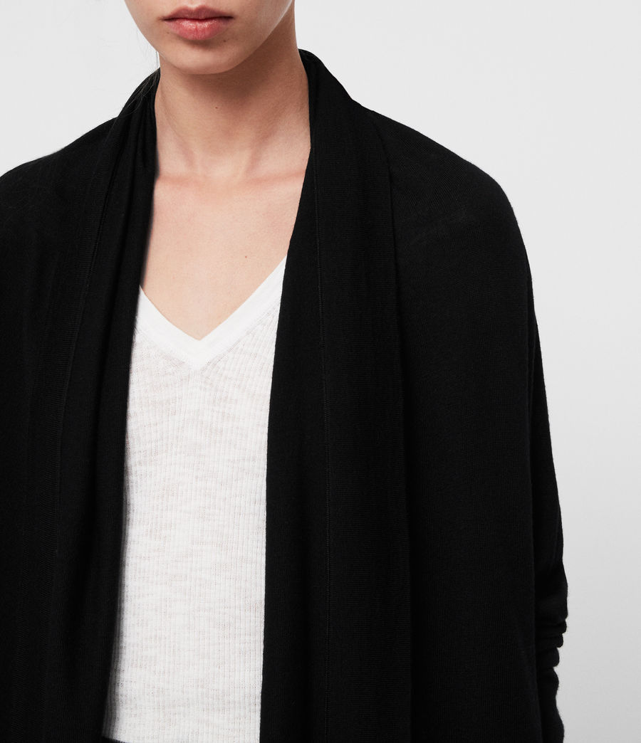 Womens Ires Woven Cardigan (black) - Image 4