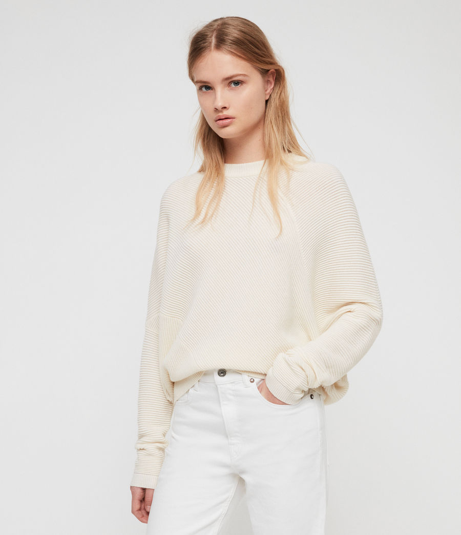 Cream Ribbed Jumper AS
