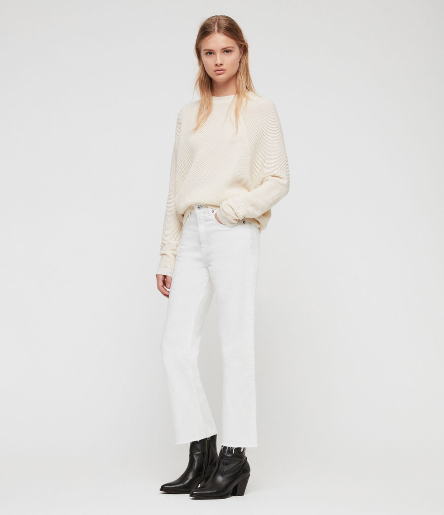 Womens Deon Sweater (chalk_white) - Image 3