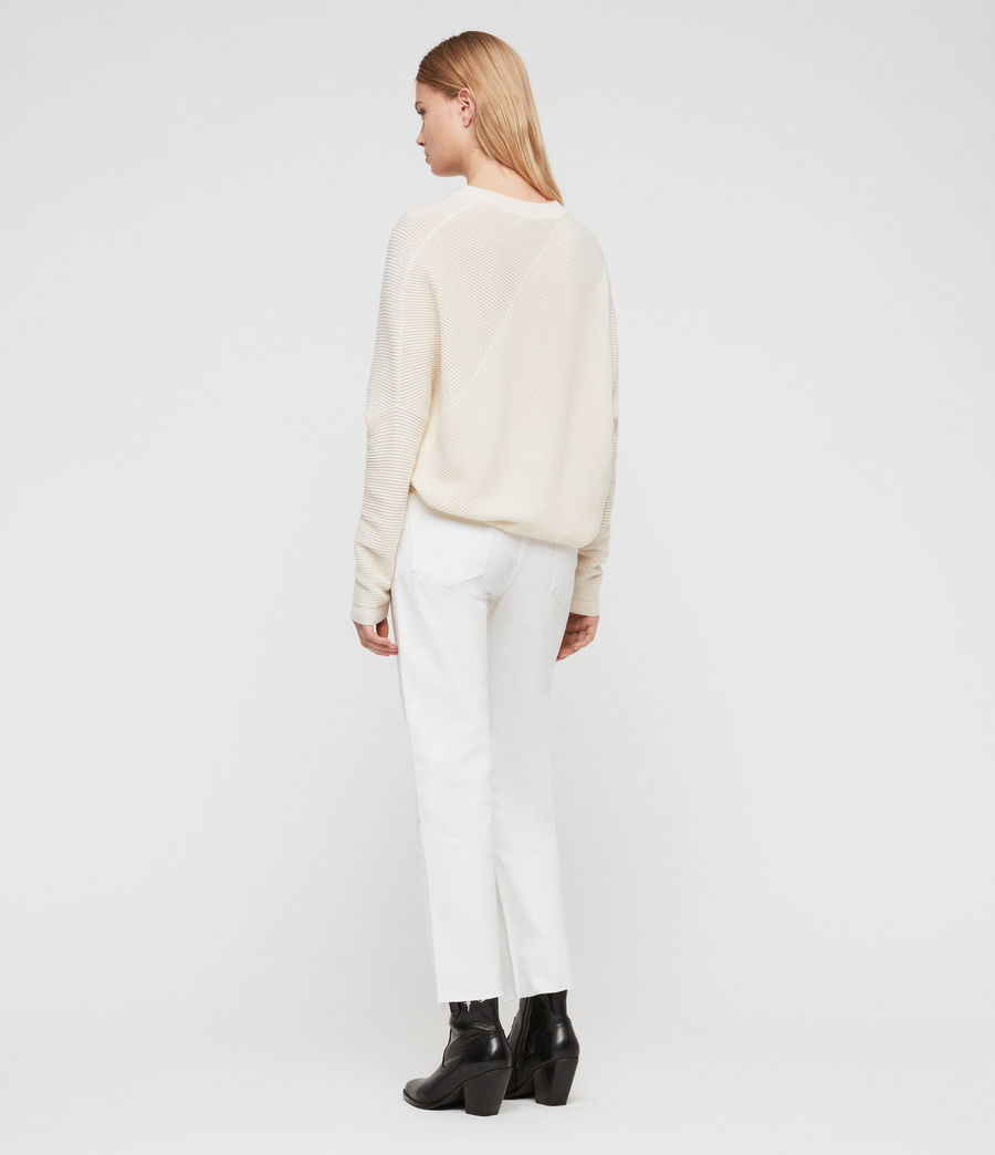 Womens Deon Sweater (chalk_white) - Image 4