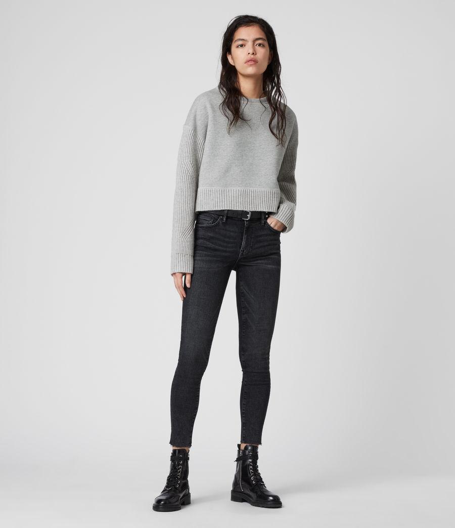 Women's Perla Cashmere Blend Jumper (grey_marl) - Image 5