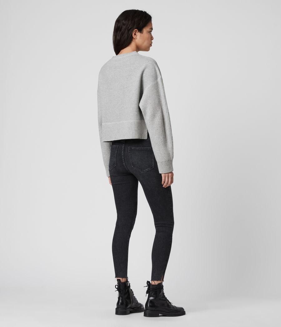 Women's Perla Cashmere Blend Jumper (grey_marl) - Image 6