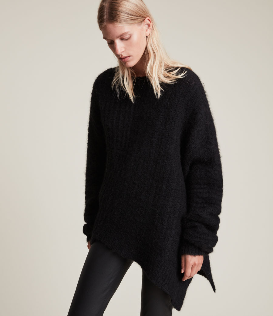 Womens Selena Sweater (black) - Image 4
