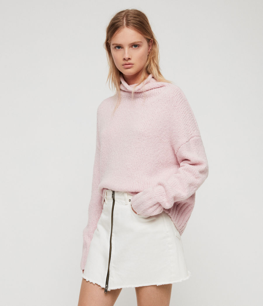 Womens Bay Sweater (baby_pink) - Image 1