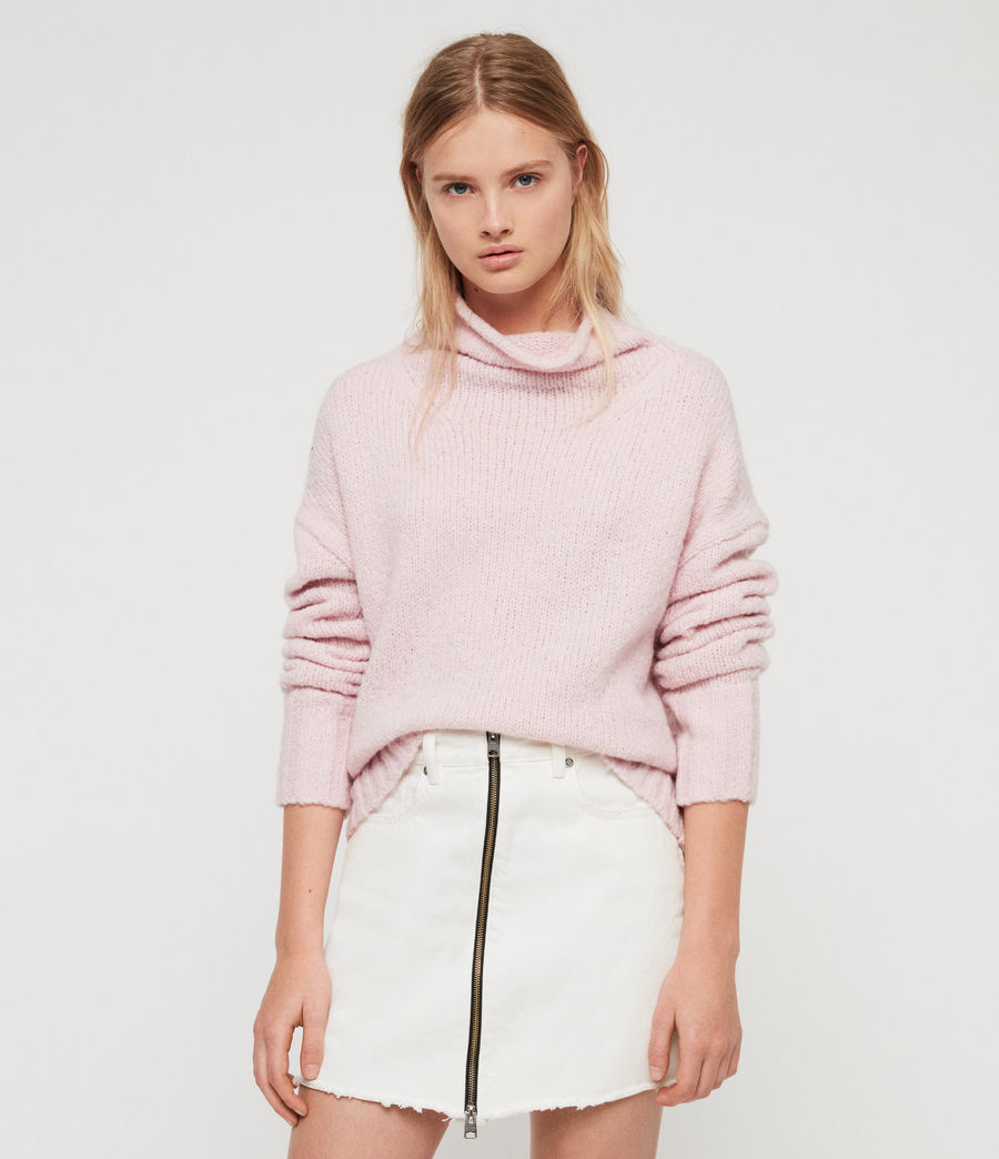 Womens Bay Sweater (baby_pink) - Image 4