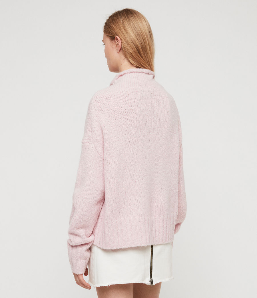 Womens Bay Sweater (baby_pink) - Image 6