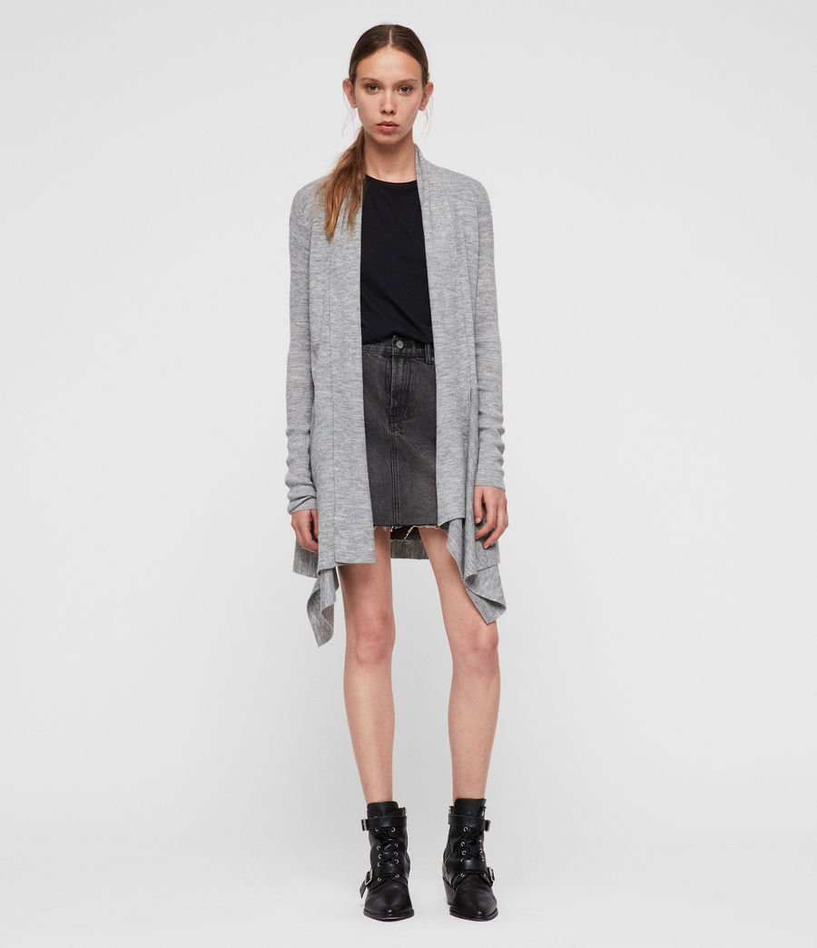 Womens Keld Olivo Cardigan (pale_grey) - Image 1