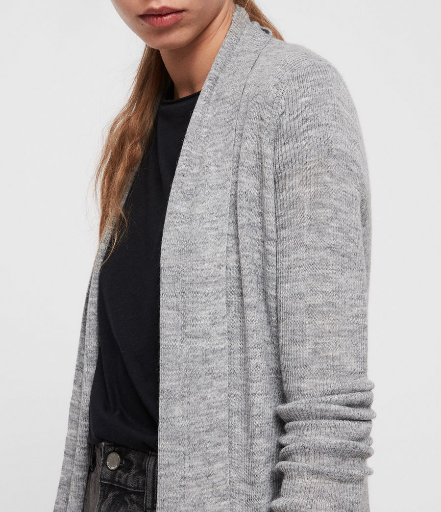 Womens Keld Olivo Cardigan (pale_grey) - Image 2