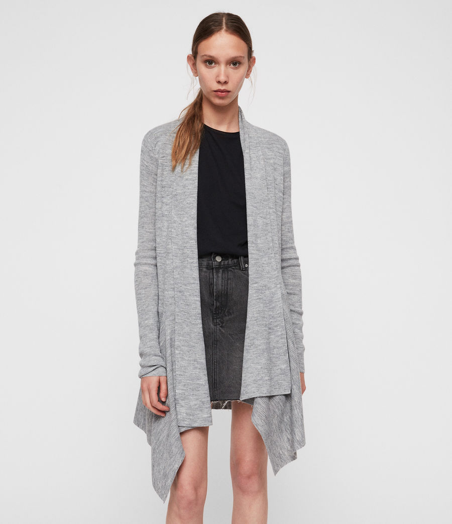 Womens Keld Olivo Cardigan (pale_grey) - Image 3